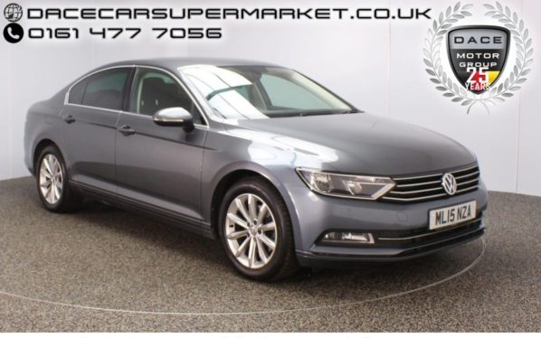 Used 2015 GREY VOLKSWAGEN PASSAT Saloon 1.6 SE BUSINESS TDI BLUEMOTION TECH DSG 4DR AUTO 1 OWNER (reg. 2015-04-14) for sale in Stockport