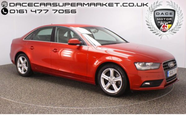 Used 2015 RED AUDI A4 Saloon 2.0 TDI TECHNIK 4DR 134 BHP FULL SERVICE HISTORY 1 OWNER  and pound;30 ROAD TAX (reg. 2015-05-19) for sale in Stockport