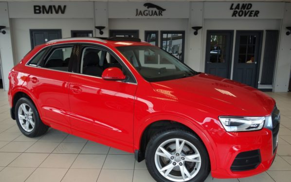 Used 2015 RED AUDI Q3 Estate 2.0 TDI QUATTRO SE 5d AUTO 182 BHP (reg. 2015-05-27) for sale in Hazel Grove