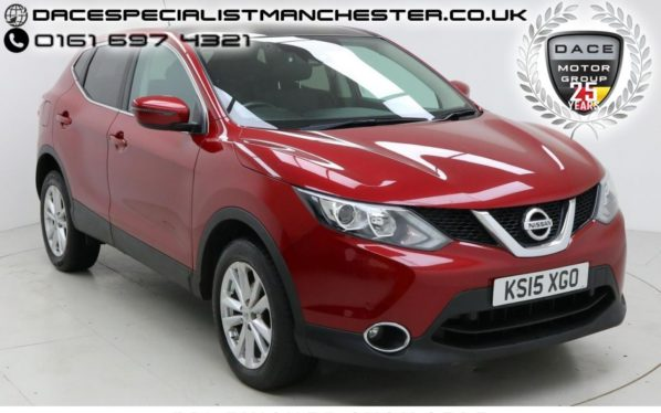 Used 2015 RED NISSAN QASHQAI Hatchback 1.5 DCI ACENTA PLUS 5d 108 BHP (reg. 2015-04-29) for sale in Manchester