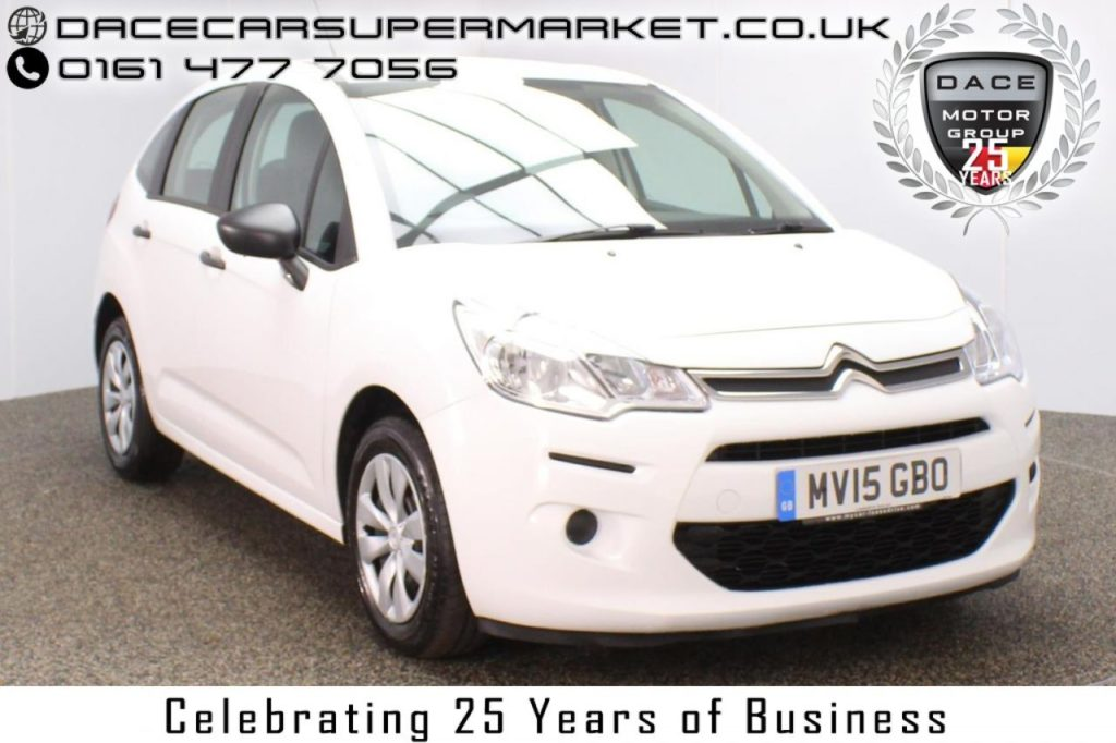 Used 2015 WHITE CITROEN C3 Hatchback 1.4 HDI VT 5DR 1 OWNER 67 BHP (reg. 2015-04-22) for sale in Stockport