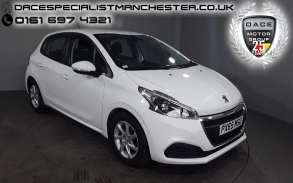 Used 2015 WHITE PEUGEOT 208 Hatchback 1.6 BLUE HDI ACTIVE 5d 75 BHP (reg. 2015-09-22) for sale in Manchester
