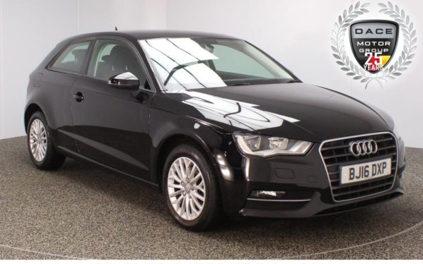 Used 2016 BLACK AUDI A3 Hatchback 2.0 TDI SE TECHNIK 3DR 148 BHP NAV FULL SERVICE HISTORY 1 OWNER   and pound;20 ROAD TAX (reg. 2016-03-29) for sale in Stockport