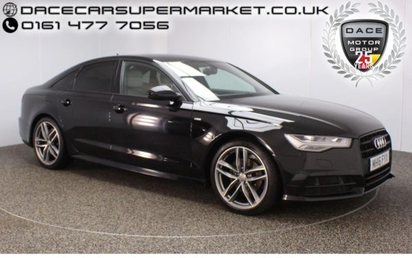Used 2016 BLACK AUDI A6 Saloon 2.0 TDI ULTRA BLACK EDITION 4DR AUTO SAT NAV HEATED LEATHER 188 BHP (reg. 2016-07-29) for sale in Stockport