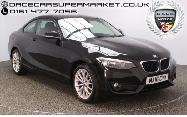 Used 2016 BLACK BMW 2 SERIES Coupe 2.0 218D SE 2DR 148 BHP FULL SERVICE HISTORY  and pound;30 ROAD TAX 1 OWNER (reg. 2016-03-31) for sale in Stockport