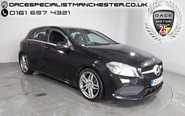 Used 2016 BLACK MERCEDES-BENZ A CLASS Hatchback 2.1 A 220 D AMG LINE 5d AUTO 174 BHP (reg. 2016-05-31) for sale in Manchester