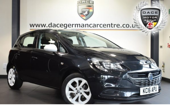 Used 2016 BLACK VAUXHALL CORSA Hatchback 1.2 STING 5DR 69 BHP (reg. 2016-07-29) for sale in Bolton