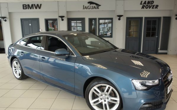 Used 2016 BLUE AUDI A5 Hatchback 2.0 TDI S LINE 5d 187 BHP (reg. 2016-03-02) for sale in Hazel Grove