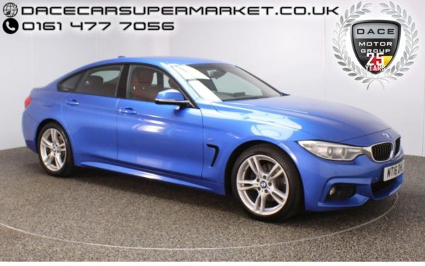 Used 2016 BLUE BMW 4 SERIES GRAN COUPE Coupe 2.0 420D M SPORT GRAN COUPE 4DR AUTO SAT NAV HEATED LEATHER 1 OWNER 188 BHP (reg. 2016-04-27) for sale in Stockport