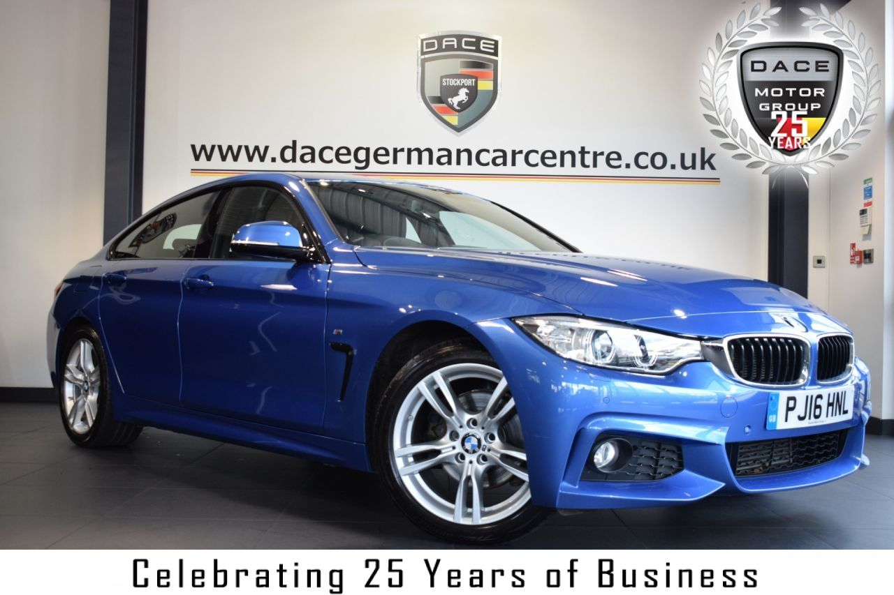 Used 2016 BLUE BMW 4 SERIES Coupe 2.0 420D M SPORT GRAN ...