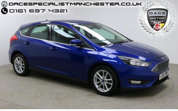 Used 2016 BLUE FORD FOCUS Hatchback 1.5 ZETEC TDCI 5d 118 BHP (reg. 2016-05-03) for sale in Manchester
