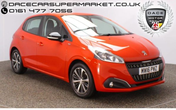 Used 2016 ORANGE PEUGEOT 208 Hatchback 1.2 PURETECH XS WHITE 5DR 1 OWNER 82 BHP (reg. 2016-06-28) for sale in Stockport