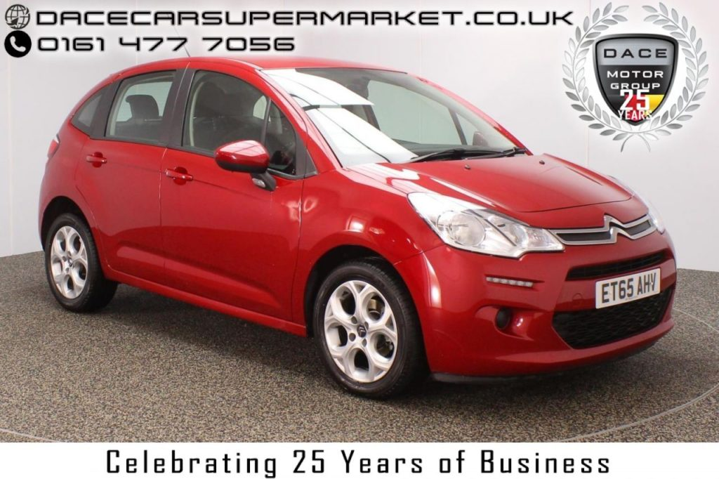 Used 2016 RED CITROEN C3 Hatchback 1.2 PURETECH EDITION 5DR 80 BHP FULL SERVICE HISTORY 1 OWNER  and pound;20 ROAD TAX (reg. 2016-02-29) for sale in Stockport