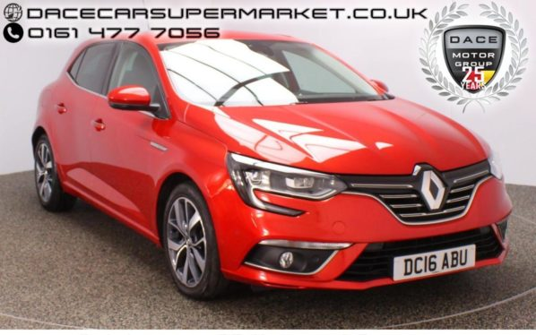 Used 2016 RED RENAULT MEGANE Hatchback 1.5 DYNAMIQUE S NAV DCI 5DR SAT NAV HALF LEATHER SEATS 110 BHP (reg. 2016-06-30) for sale in Stockport