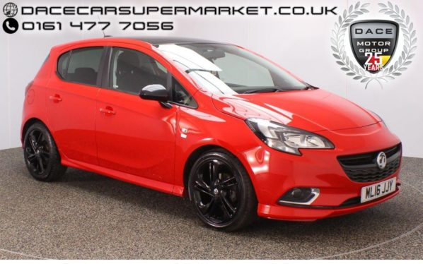 Used 2016 RED VAUXHALL CORSA Hatchback 1.4 LIMITED EDITION 5DR 89 BHP  and pound;30 ROAD TAX 1 OWNER (reg. 2016-03-31) for sale in Stockport