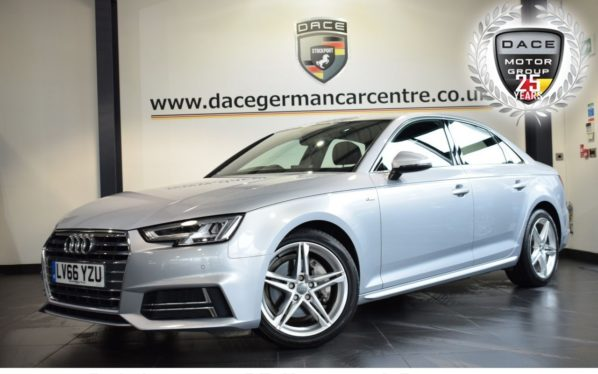 Used 2016 SILVER AUDI A4 Saloon 2.0 TDI ULTRA S LINE 4DR 190 BHP full service history (reg. 2016-12-05) for sale in Bolton
