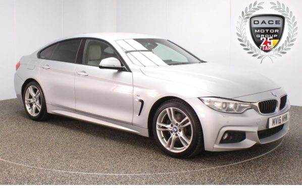 Used 2016 SILVER BMW 4 SERIES GRAN COUPE Coupe 3.0 430D M SPORT GRAN COUPE 4DR AUTO SAT NAV HEATED LEATHER 255 BHP (reg. 2016-03-15) for sale in Stockport