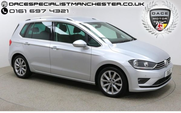 Used 2016 SILVER VOLKSWAGEN GOLF SV MPV 1.4 GT TSI DSG 5d 148 BHP (reg. 2016-12-16) for sale in Manchester