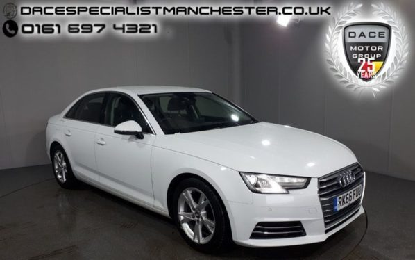 Used 2016 WHITE AUDI A4 Saloon 2.0 TDI ULTRA SE 4d 148 BHP (reg. 2016-09-12) for sale in Manchester