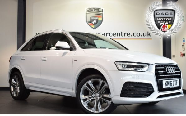 Used 2016 WHITE AUDI Q3 Estate 2.0 TDI QUATTRO S LINE PLUS 5DR 148 BHP full service history (reg. 2016-04-15) for sale in Bolton