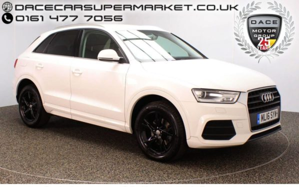 Used 2016 WHITE AUDI Q3 Estate 2.0 TDI SE 5DR 148 BHP BLUETOOTH 1 OWNER (reg. 2016-04-26) for sale in Stockport