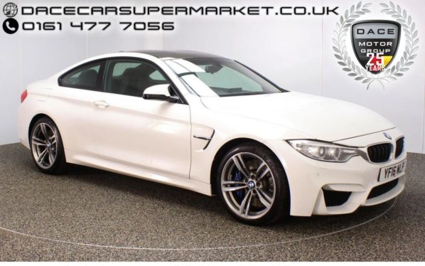 Used 2016 WHITE BMW M4 Coupe 3.0 M4 2DR AUTO 426 BHP PRO SAT NAV HEATED LEATHER SEATS (reg. 2016-05-31) for sale in Stockport