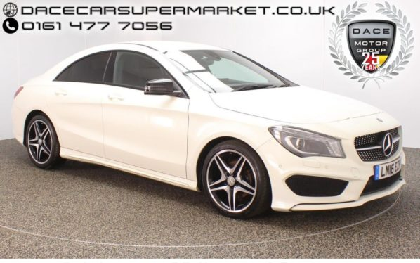 Used 2016 WHITE MERCEDES-BENZ CLA Coupe 2.1 CLA 200 D AMG LINE 4DR 134 BHP 1 OWNER SAT NAV 1 OWNER (reg. 2016-03-01) for sale in Stockport