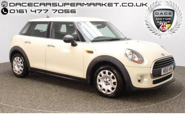 Used 2016 WHITE MINI HATCH ONE Hatchback 1.2 ONE 5DR 1 OWNER 101 BHP (reg. 2016-06-29) for sale in Stockport