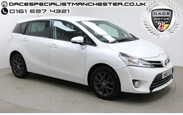 Used 2016 WHITE TOYOTA VERSO MPV 1.6 D-4D TREND 5d 122 BHP (reg. 2016-03-17) for sale in Manchester
