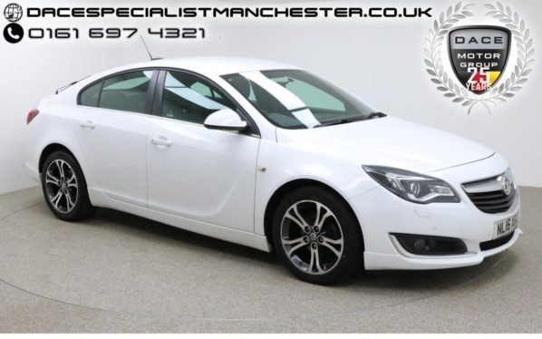 Used 2016 WHITE VAUXHALL INSIGNIA Hatchback 1.6 LIMITED EDITION CDTI ECOFLEX S/S 5d 134 BHP (reg. 2016-03-07) for sale in Manchester