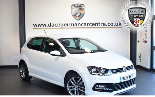 Used 2016 WHITE VOLKSWAGEN POLO Hatchback 1.2 R LINE TSI 5DR 89 BHP full vw service history (reg. 2016-03-31) for sale in Bolton