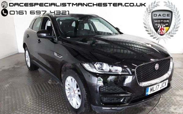 Used 2017 BLACK JAGUAR F-PACE Estate 2.0 PORTFOLIO AWD 5d AUTO 178 BHP (reg. 2017-04-26) for sale in Manchester