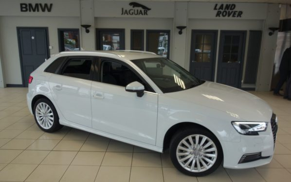 Used 2017 WHITE AUDI A3 Hatchback 1.4 SPORTBACK E-TRON 5d AUTO 101 BHP (reg. 2017-03-24) for sale in Hazel Grove