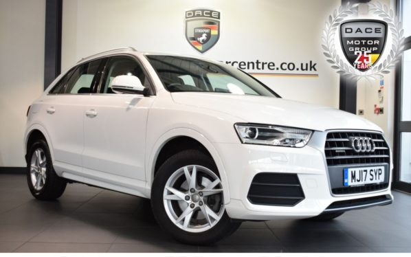 Used 2017 WHITE AUDI Q3 Estate 2.0 TDI QUATTRO SE 5DR 182 BHP full service history (reg. 2017-04-13) for sale in Bolton