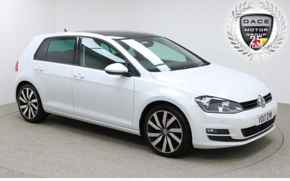 Used 2017 WHITE VOLKSWAGEN GOLF Hatchback 1.4 GT EDITION TSI ACT BMT 5d 148 BHP (reg. 2017-03-29) for sale in Manchester