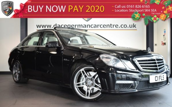 Used 2009 BLACK MERCEDES-BENZ E CLASS Saloon 6.2 E63 AMG 4DR 525 BHP full service history (reg. 2009-10-01) for sale in Bolton