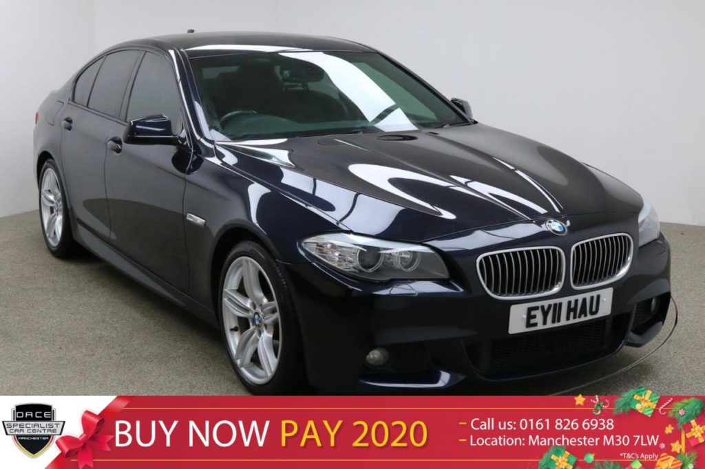 Used 2011 BLACK BMW 5 SERIES Saloon 2.0 520D M SPORT 4d 181 BHP (reg. 2011-03-01) for sale in Manchester