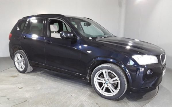 Used 2012 BLACK BMW X3 Estate 2.0 XDRIVE20D M SPORT 5DR AUTO 181 BHP (reg. 2012-09-26) for sale in Stockport