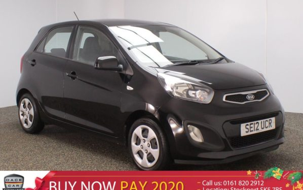 Used 2012 BLACK KIA PICANTO Hatchback 1.0 1 5DR 68 BHP (reg. 2012-07-31) for sale in Stockport