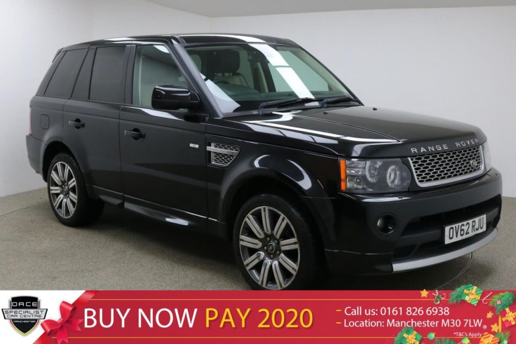 Used 2012 BLACK LAND ROVER RANGE ROVER SPORT Estate 3.0 SDV6 AUTOBIOGRAPHY SPORT 5d AUTO 255 BHP (reg. 2012-10-22) for sale in Manchester