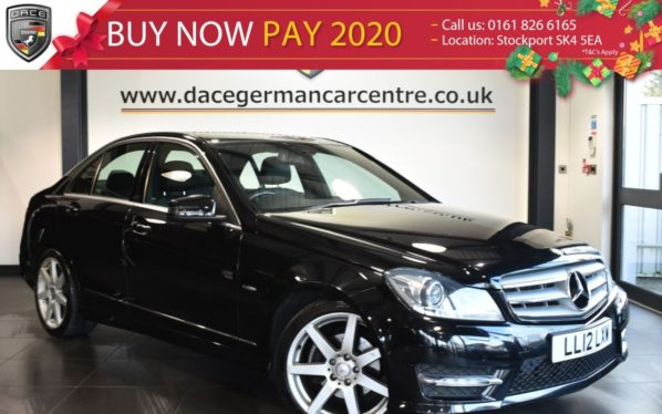 Used 2012 BLACK MERCEDES-BENZ C CLASS Saloon 2.1 C200 CDI BLUEEFFICIENCY SPORT 4DR AUTO 135 BHP superb service history (reg. 2012-05-25) for sale in Bolton