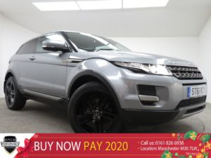Used 2012 GREY LAND ROVER RANGE ROVER EVOQUE Coupe 2.2 SD4 PURE TECH 3d 190 BHP (reg. 2012-01-20) for sale in Manchester