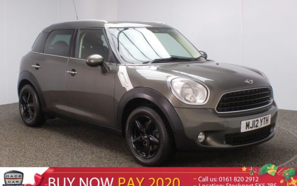 Used 2012 GREY MINI COUNTRYMAN Hatchback 1.6 ONE D PEPPER PACK 5DR 90 BHP  and pound;30.00 TAX FULL HISTORY (reg. 2012-06-14) for sale in Stockport