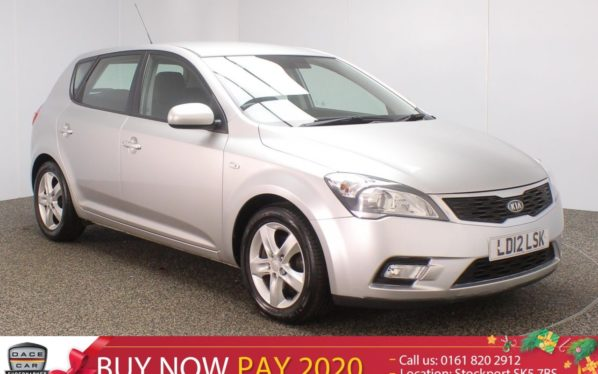 Used 2012 SILVER KIA CEED Hatchback 1.6 2 5DR AUTO 124 BHP (reg. 2012-04-01) for sale in Stockport