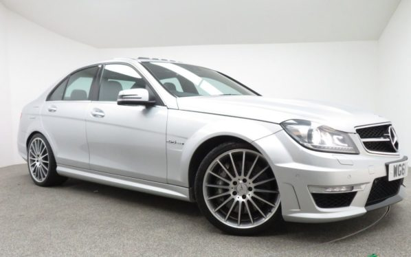 Used 2012 SILVER MERCEDES-BENZ C 63 AMG Saloon 6.2 C63 AMG 4d 457 BHP (reg. 2012-02-03) for sale in Manchester