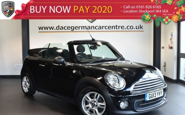 Used 2013 BLACK MINI CONVERTIBLE Convertible 1.6 ONE 2DR 98 BHP excellent service history (reg. 2013-05-22) for sale in Bolton
