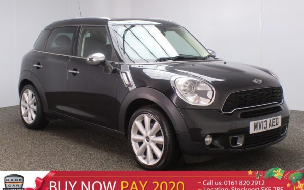 Used 2013 BLACK MINI COUNTRYMAN Hatchback 2.0 COOPER SD CHILI PACK SAT NAV HEATED LEATHER 141 BHP (reg. 2013-03-04) for sale in Stockport