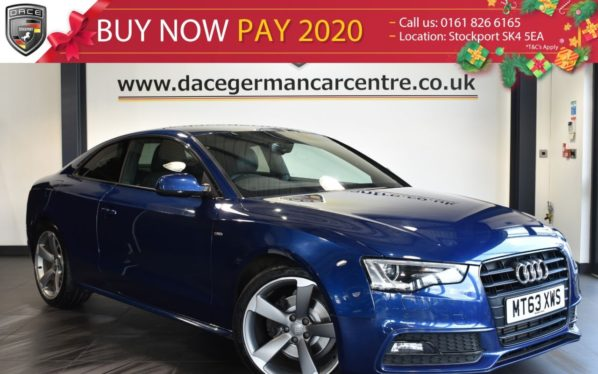 Used 2013 BLUE AUDI A5 Coupe 2.0 TDI BLACK EDITION 2DR AUTO 177 BHP full service history (reg. 2013-12-11) for sale in Bolton