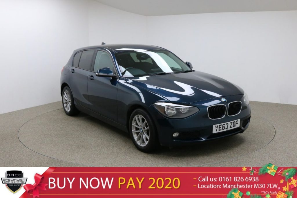 Used 2013 BLUE BMW 1 SERIES Hatchback 2.0 118D SE 5d AUTO 141 BHP (reg. 2013-12-16) for sale in Manchester