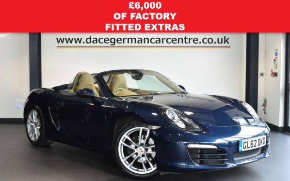 Used 2013 BLUE PORSCHE BOXSTER Convertible 2.7 24V PDK 2DR AUTO 265 BHP full service history (reg. 2013-01-28) for sale in Bolton